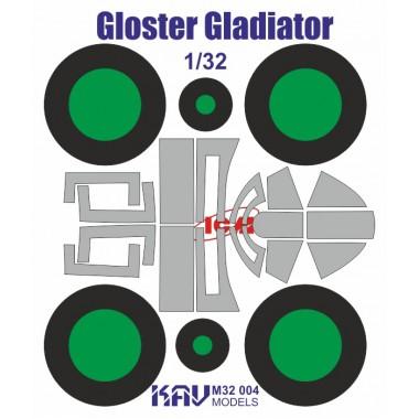 KAV M32 004 KAV-models Окрасочная маска на Gloster Gladiator (ICM), 1/32