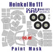 KAV M48 023 KAV-models Окрасочная маска для Heinkel He-111 (ICM), 1/48