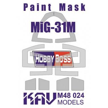 KAV M48 024 KAV-models Окрасочная маска для МиГ-31М (Hobby Boss), 1/48