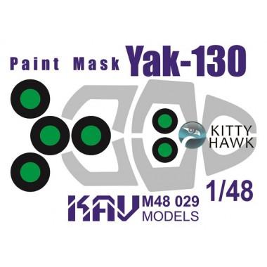KAV M48 029 KAV-models Окрасочная маска для модели Як-130 (Kitty Hawk), 1/48