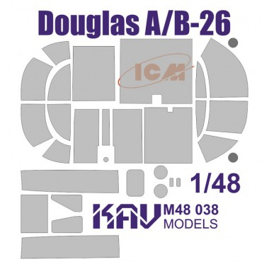 KAV M48 038 KAV-models Окрасочная маска на Douglas A/B-26 (ICM), 1/48