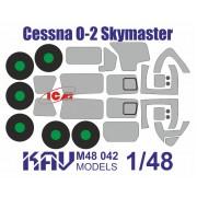 KAV M48 042 KAV-models Окрасочная маска на Cessna O-2 Skymaster (ICM), 1/48