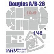 KAV M48 043 KAV-models Окрасочная маска на Douglas A/B-26 (ICM) расширенный набор, 1/48