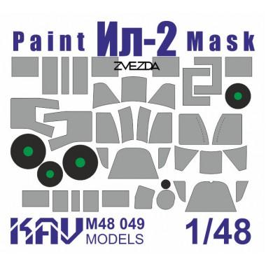 KAV M48 049 KAV-models Окрасочная маска на Ил-2 (Звезда), 1/48