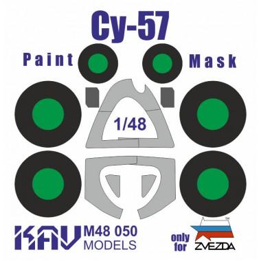 KAV M48 050 KAV-models Окрасочная маска на Су-57 (Звезда), 1/48