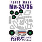 KAV M72 005 KAV-models Окрасочная маска на Ми-24/35 (Звезда), 1/72