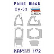 KAV M72 010 KAV-models Окрасочная маска на остекление Су-27СМ/Су-33 (Звезда) 1/72