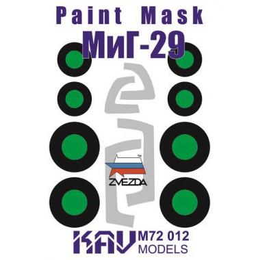 KAV M72 012 KAV-models Окрасочная маска на остекление МиГ-29 (Звезда), 1/72
