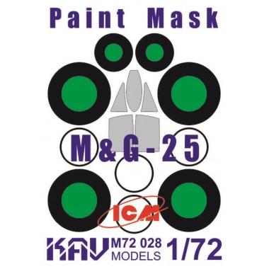 KAV M72 028 KAV-models Окрасочная маска на остекление МиГ-25 (ICM), 1/72