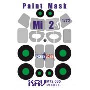 KAV M72 035 KAV-models Окрасочная маска на Ми-2 (Hobby Boss), 1/72