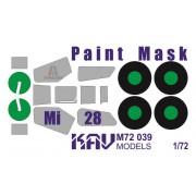 KAV M72 039 KAV-models Окрасочная маска на Ми-28 (Italeri/Звезда), 1/72
