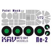 KAV M72 041 KAV-models Окрасочная маска на Пе-2 (Звезда), 1/72
