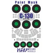KAV M72 051 KAV-models Окрасочная маска на C-130 Hercules (Звезда), 1/72