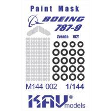 KAV M144 002 KAV-models Окрасочная маска для Boing 787 (Звезда)