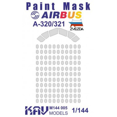 KAV M144 006 KAV-models Окрасочная маска для Airbus A-321 (Звезда)