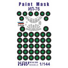 KAV M144 008 KAV-models Окрасочная маска для Ил-76 (Звезда)