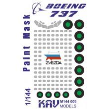 KAV M144 009 KAV-models Окрасочная маска для Boing 737 (Звезда)