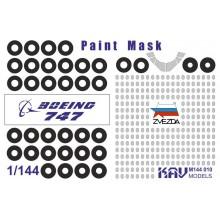 KAV M144 010 KAV-models Окрасочная маска для Boing 747 (Звезда)