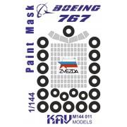 KAV M144 011 KAV-models Окрасочная маска для Boing 767 (Звезда)
