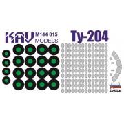 KAV M144 015 KAV-models Окрасочная маска на Ту-204 (Звезда), 1/144