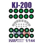 KAV M144 017 KAV-models Окрасочная маска для модели KJ-200 Hobby Boss, 1/144