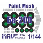 KAV M144 023 KAV-models Окрасочная маска на Бе-200 (Звезда), 1/144