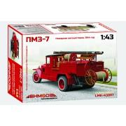LMK-43007 Ленмодель ПМЗ-7, Пожарная автоцистерна 1944г, 1/43