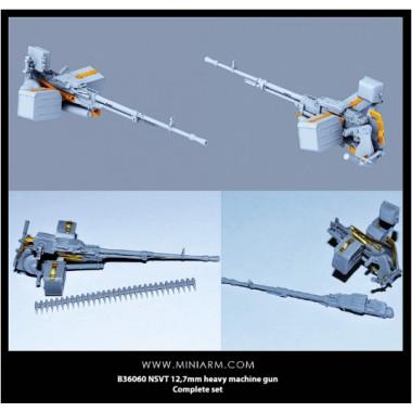 B35060 Miniarm  НСВТ 12,7мм крупнокалиберный пулемет со станком, плюс фототравление, 1/35