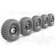 35204 Miniarm Набор колес с просадкой (ранние), для ЗРПК Панцирь-С1, 1/35