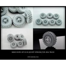 35053 Miniarm Набор колес ОИ-25  (CCCP) для автомобиля Урал- 375,4320 (6шт. плюс запаска), 1/35