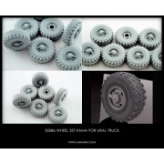 B35086 Miniarm Набор колес Кама для автомобиля Урал-4320 поздние  (6шт плюс запаска)