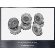 B35129 Miniarm Набор колес ОИ-25  (CCCP) для автомобиля Урал- 375, ранние (6шт плюс запаска), 1/35
