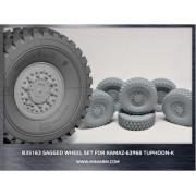 B35163 Miniarm КамАЗ-63968 Тайфун-К набор колес под нагрузкой  (6шт), 1/35