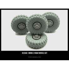 B35040 Miniarm БРДМ-2 набор колес 4 шт., 1/35