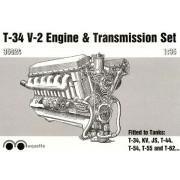 MQ35024 MSD Двигатель и трансмиссия танка Т-34, 1/35