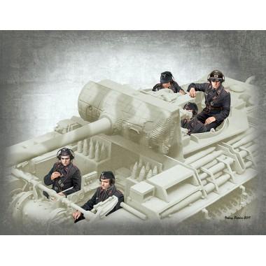 MB35201 Master Box Фигуры, Немецкие танкисты, 1944-1945, 1/35