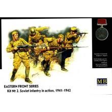 MB3523 Master Box Фигуры Серия Восточный Фронт. Набор 2. Советская пехота в действии, 1941-1942, 1/35