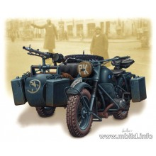 MB3528 Master Box BMW R-75 германский мотоцикл, 1/35