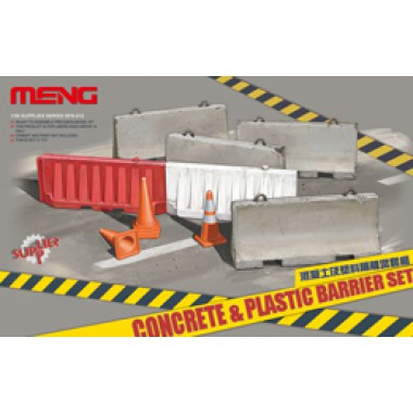 SPS-012 MENG CONCRETE & PLASTIC BARRIER SET , 1/35