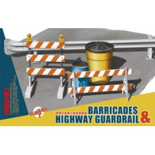 SPS-013 MENG BARRICADES & HIGHWAY GUARDRAIL, 1/35