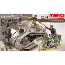 HS-005 Meng FRENCH FT-17 LIGHT TANK CREW & ORDERLY, 1/35