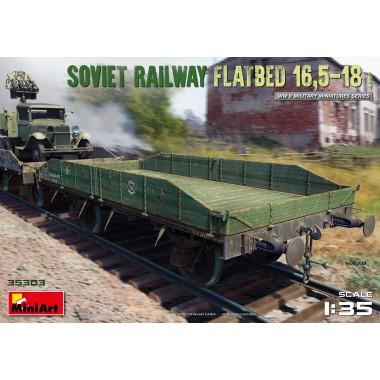 35303 MiniArt Железнодорожная Платформа 16,5-18т., 1/35