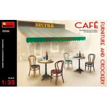 35569 MiniArt Мебель и Посуда для Кафе, 1/35