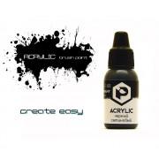 F03 Pacific88 Краска Черный сатиновый (Black satin) акриловая, Acrylic, 10мл
