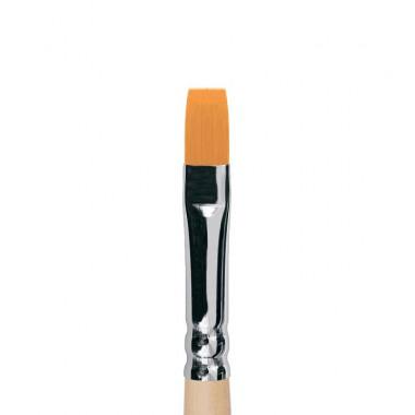1222 Roubloff Кисть плоская мягкая синтетика, длинная ручка, лак