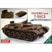 231 SKIF T-55C-2 Favorit Czech driver training tank, 1/35