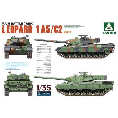 2004 TAKOM Main Battle Tank Leopard 1 A5/C2 (2 in 1), 1/35