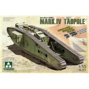 2015 TAKOM WWI Heavy Battle Tank Mark IV Male Tadpole w/Rear mortar, 1/35