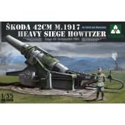 2018 TAKOM Skoda 42cm M.1917 Heavy Siege Howitzer with Erich von Manstein, 1/35