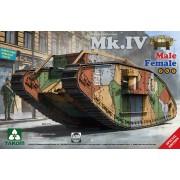 2076 TAKOM WW I Heavy Battle Tank Mk.IV 2 in 1, 1/35